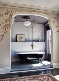 Dream bathroom. Vintage Macabre. It reminds me of Restoration Hardware. Any one know if this is the official name for this style? #bathroom #macabre #vintage