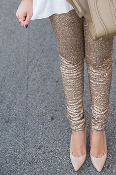 Step out and shine in these adorable rose gold sequin leggings. These sequin leggings are a must have this holiday season! Micro sequins add glitz to these statement pants! Perfect for the Holidays. They're stretchy to your form perfectly and have a flattering mid rise. Pants are fully lined for your comfort.
