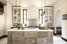 Elegantly Carefree Kitchen Island designed by Beth Webb.