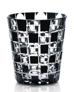 Tama-ichimatsu glass by Kimoto Glassware. This delicate pieces would be placed on a wrought iron shelf on the wall. The design is beautiful, and would coordinate with my checkered black and white floor. It would tie in together as a classy touch.