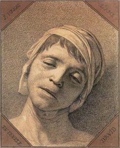 Head of Marat - Jacques-Louis David