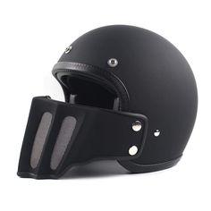 Vintage Motorcycle Helmet Fiber Retro 3/4 Open Face Harley Moto Helmets