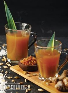 Beras Kencur Femina-Indonesian herbal drink Mix it with kunyit asam, mmm ...