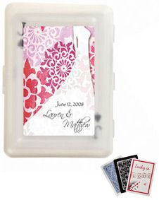 Wedding Gown Design Personalized Playing Card Favors - with Personalized Box #wedding #favors www.BlueRainbowDesign.com