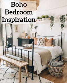 Bohemian Bedroom Decor, Cozy Bedroom, Home Decor Bedroom, Bedroom Ideas, Modern Bedroom, Contemporary Bedroom, Bedroom Furniture, Bedroom Red, Bedroom Designs