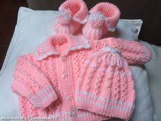 Dětská soupravička Double Knitting, Baby Knitting, Grow Room, Drops Design, Knitting Patterns, Crochet Hats, Rompers, Booty, Sweaters