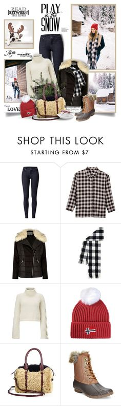 """""""Play In The Snow"""" by thewondersoffashion ❤ liked on Polyvore featuring Andrea, Hoss Intropia, River Island, Hobbs, Napapijri, Burberry and Sperry Top-Sider"""