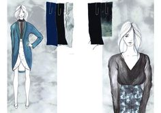 Fashion Sketchbook - fashion illustrations & textile samples, fashion design portfolio // Emily McSharry
