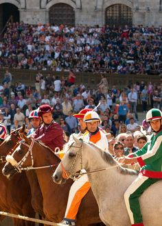 the starting line up at Il Palio Di Siena in July 2013. Tittia racing for Onda, and Gigi racing for Leocorno.