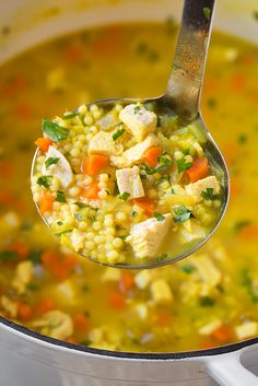 Cold Buster Chicken and Pasta Soup - Cooking Classy