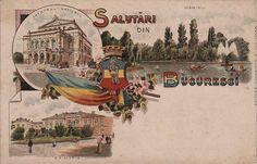 Bucuresti - Primaria , Teatrul National si Parcul Cismigiu  anii 1900