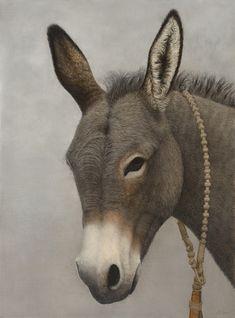 'Schekinah' - by Mari Kloeppel Farm Animals, Animals And Pets, Funny Animals, Cute Animals, Burritos, Donkey Drawing, Baby Donkey, Sheep Art, Delphine