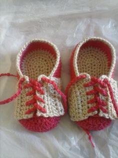 tênis em croche para bebe