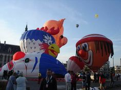 Pictures of hot air balloon meeting in Sint-Niklaas, Belgium