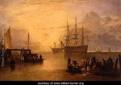 The Sun Rising through Vapour, c.1809 - Joseph Mallord William Turner - www.william-turner.org