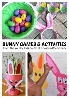 Bunny Games and Activities for Kids from The Weekly Kids Co-Op #kids #easter #binspiredmama @Karen Jacot Bredin