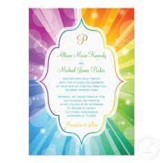 invitations  rainbows weddings and rainbow wedding, invitation samples
