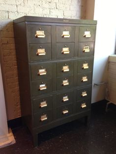 vintage industrial card catalog by Yawman & by Midcenturyville, $1700.00
