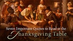 Seven Important Quotes to Read at The Thanksgiving Table