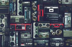 Image result for wall of boomboxes