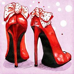 Lisa Buckridge —  Red Shoes  (650x650)