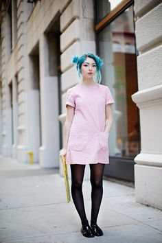 On the Street…Art Student, New York