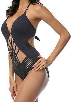 ff39ac08ef14 Sexy One Piece Swimwsuit - Women s Strappy Monokini Bathi... bikini model