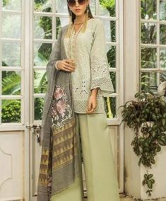 Eid clothes latest collection 2019 in Pakistan by Zainab Chottani Latest Pakistani Suits, Pakistani Designer Suits, Pakistani Outfits, Eid Shopping, Suits Online Shopping, Eid Outfits, Summer Outfits, Fashion Outfits, Salwar Suit With Price