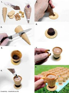 Image uploaded by rinakiii. Find images and videos about diy, cup and sweet yummi and cute on We Heart It - the app to get lost in what you love. Holiday Desserts, No Bake Desserts, Dessert Recipes, No Bake Treats, Yummy Treats, Sweet Treats, Cupcake Cakes, Cupcakes, Bread Shaping