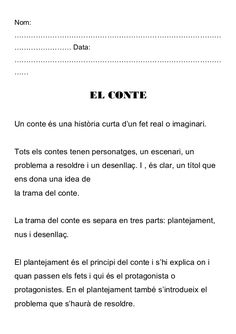 TREBALLAR EL CONTE A CICLE INICIAL by Monica Roige Sedo via slideshare Catalan Language, Valencia, Lettering, Writing, Education, Words, School, Initials, Writing Workshop