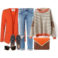"""""""Maglione a righe"""" by doradabrowska on Polyvore"""