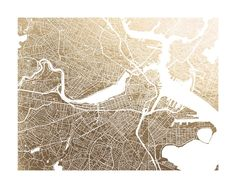 Boston Map by Alex Elko Design for Minted