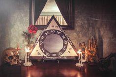 Triangle of Solomon within sanctum ©Fernando S. Magick, Witchcraft, Tarot, Freemason Symbol, Occult Art, Dark Beauty, Home Decor Furniture, Filmmaking, Mystic