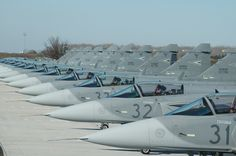 Hungarian AF Saab Jas-39 Gripens Neatly Lined Up