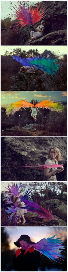 art photography Mixed Media Photography by Aliza Razell I got Dragon Wings Photography Projects, Creative Photography, Amazing Photography, Art Photography, Colourful Photography, Montage Photography, Flying Photography, A Level Photography, Splash Photography