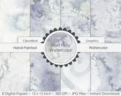 GRAY WATERCOLOR Digital Paper Commercial Use by ClipArtBrat