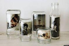 Photos en pot de verre