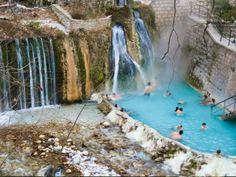 Λουτρά Πόζαρ: 10 λόγοι που σίγουρα θα σε πείσουν να τα επισκεφτείς Swimming Pools, Greece, Waterfall, Nature, Travel, Outdoor, Girls, Swiming Pool, Greece Country