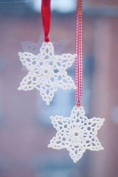 crocheted stars