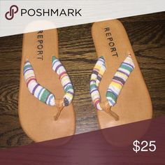 Report sandals Super comfy and cute patterned. Never worn!  Not free people. Just using for views !! Free People Shoes Sandals