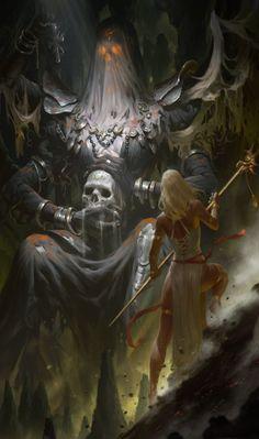 """""""Black saintess – fantasy concept by KILART _ """" Dark Fantasy Art, Fantasy Artwork, Fantasy Kunst, Fantasy Rpg, Fantasy World, Dark Art, Arte Horror, Horror Art, Fantasy Creatures"""