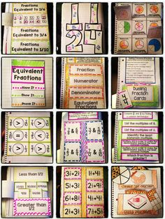 Flippable, foldable fun for 4th grade fractions! These interactive notebook activities are aligned to the Common Core standards and keep kids engaged while learning fraction concepts. $