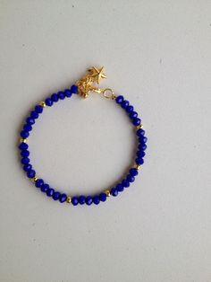 Blue beaded bracelet