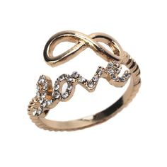 Infinite Love Gold Wrap Ring! Weekend Sale item only 9.98! #inspiredsilver #sale #jewelry