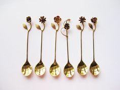 Vintage Japanese Floral Teaspoons- Splendour Collection 1980s