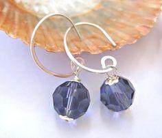Sparkly purple earrings sterling silver by SunshineDaydreamz, $14.00