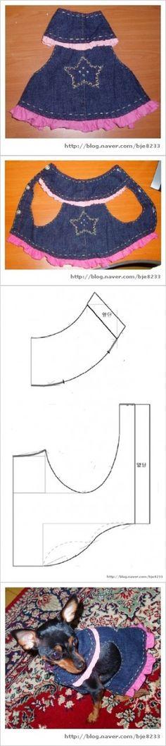 Free dog dress pattern - tutorial