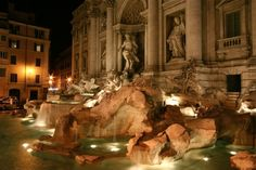 Trevi Fountain in #Rome #Italy #photography #longexposure #night #beautiful
