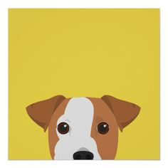 The grief of losing a much-loved dog is never forgotten: Jack Russell Dog Portrait Poster Jack Russell Dogs, Jack Russell Terrier, Interior Wall Colors, Wall Colours, Dog Poster, Aesthetic Painting, Dog Store, Poster Prints, Art Prints