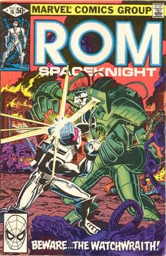 ROM n°16, March 1981, cover by Ed Hannigan and Al Milgrom.